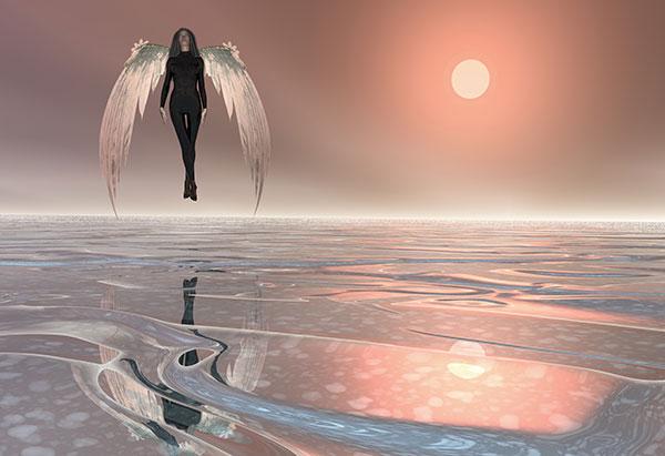 Image of Light Painting Angel Rising
