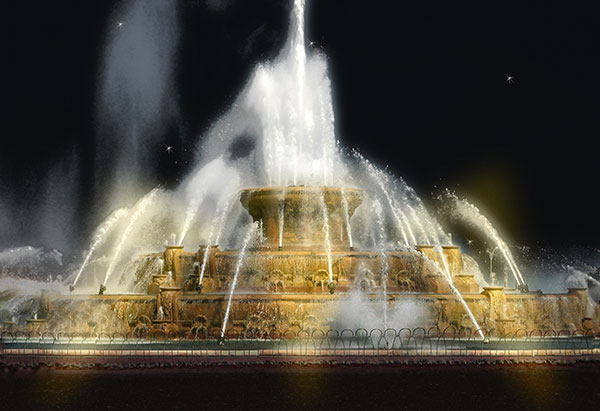 Image of Light Painting Buckingham Fountain