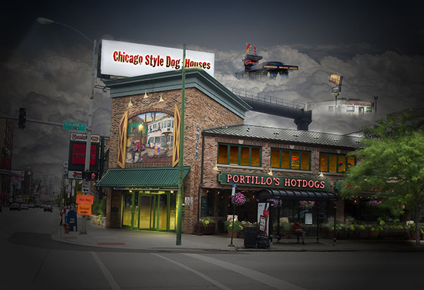 Image of Light Painting Chicago Style Dogs