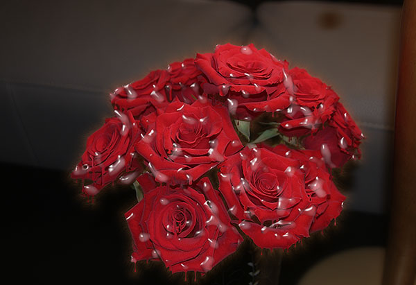 Image of Light Painting Crying for Red Roses