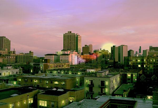 Image of Light Painting Emerald City