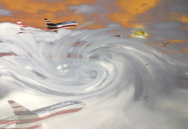 Image of Light Painting Flights of Imagination
