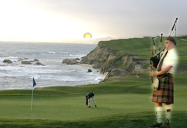 Image of Light Painting Golf Heaven