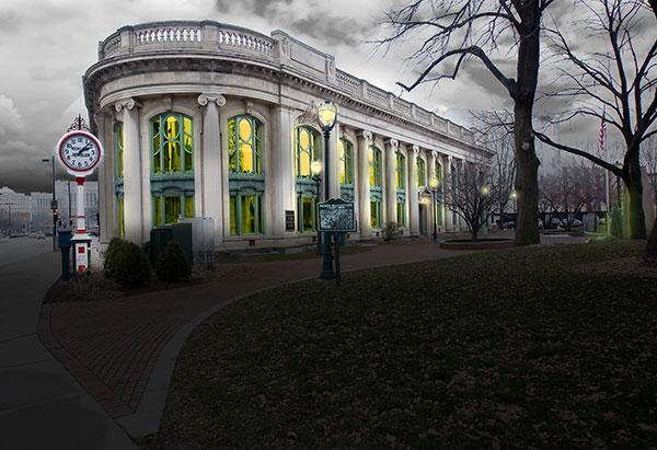 Image of Light Painting Milwaukee Historic Center