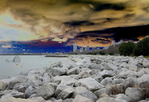 Image of Light Painting Martini on the Rocks