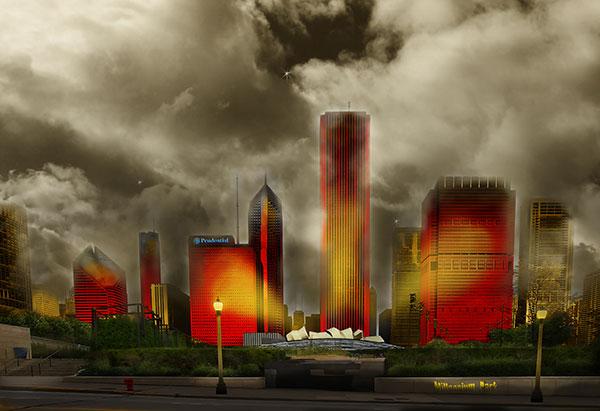 Image of Light Painting Millennium Park