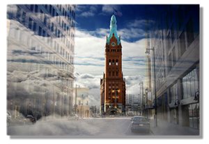 Image of Milwaukee City Hall Light Painting is on the About Us page
