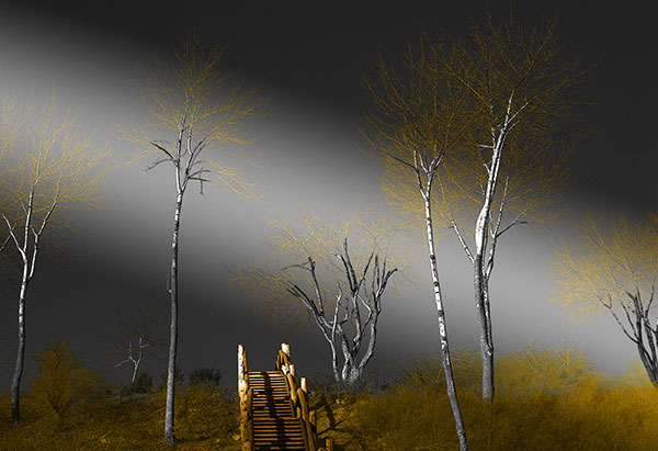Image of Light Painting Stairway to Heaven