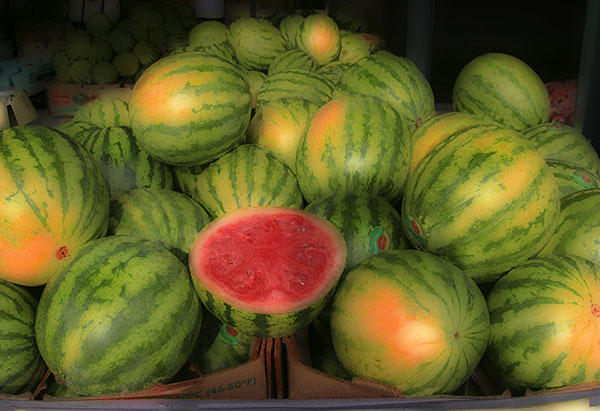 Image of Light Painting Watermelons for Sale